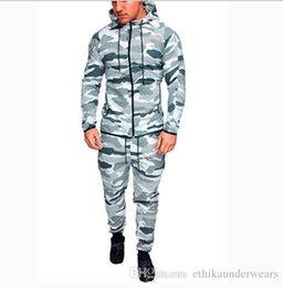 Men caMouflage suit jacket online shopping - 2018 Autumn Men Sportwear Pants Jackets Tracksuit Men s Hoodie Camouflage Tracksuits Outdoor Set Sportswear Sweat Suit