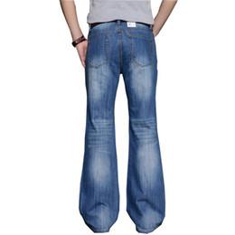 Big Legs Boots UK - 2019 Men's modis Big Flared Jeans Boot Cut Leg Flared Loose Fit high Male Designer Classic Denim Jeans Biker jeans #363037