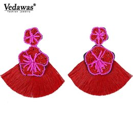 $enCountryForm.capitalKeyWord UK - Vedawas Hot Bohemian Beaded Eyes Tassel Earrings for Women Unique Gift All Handmade Ethnic Wedding Fringed Drop Earring xg2971