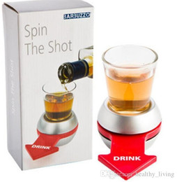 spinning wheel toys Australia - Spin The Shot Glass Drinking Game Fun Party Gifts,Turntable Toys Drinking Game Shot Glass With Spinning Wheel Bar Games 8566