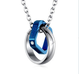 a78414bfea His & Hers Matching Set Stainless Steel Couples Pendant Necklace for Lover  Valentine day His love and lift ring necklace