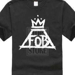 $enCountryForm.capitalKeyWord Australia - Cheap Price 100 % Cotton Tee Shirts Fall Out Boy Fob Crown Logo T Shirt New Printed T Shirt Men Cotton T Shirt New Style Slim