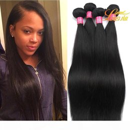 26 7a grade hair UK - Grade 7A Wholesale Price Peruvian Virgin Hair Extension 100% Human Hair Weft Straight Natural Color Can be Dyed And Bleached