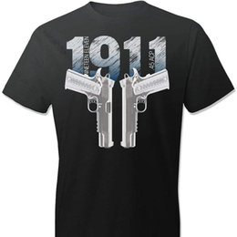 94f805b2a 1911 Colt Handgun Pro Gun 2nd Amendment 100% Cotton Men T-shirt T Shirt  Fashion 2019 Brand Design T-shirts Casual Tees