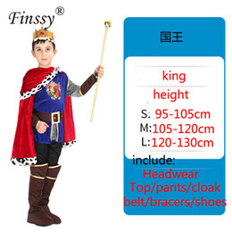 king costumes NZ - Boy King Cosplay Stage Performance Clothing Halloween Carnival Birthday Party Masquerade Costume Props Very Cool Gift