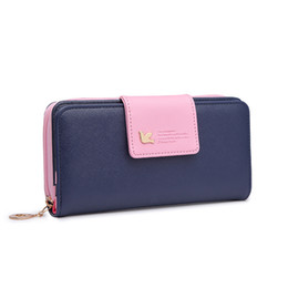 Korean bag bucKle online shopping - Zipper buckle PU leather wallet woman long section Girls fashion wallet student large capacity clutch bag card package cm cm cm