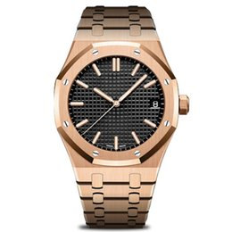 Zone green battery online shopping - luxury mens automatic mechanical watches classic style mm stainless steel Super A quality wristwatches Rose Gold Royal Oak Watch