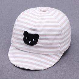 $enCountryForm.capitalKeyWord NZ - Cute Infant Baby Hat Unisex Baby Boys Girls Caps Stripe Bear Sunhat Kids Summer Comfortable Cotton Hat