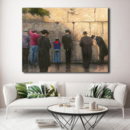 $enCountryForm.capitalKeyWord Australia - The Wailing Wall Jerusalem By Thomas Kinkade HD Canvas Painting Print Living Room Home Decor Modern Wall Art Oil Painting Poster