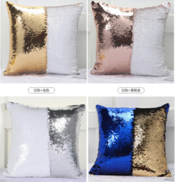 Hospital Bedding Australia - Insert Magic 34 Styles Double Cushion Paillette Gradient Pillow Case Sequin Cover Mermaid Cushion Cover Cover Sofa Wedding Bed Decor -p