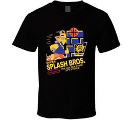 Curry Shirts NZ - mens designer t shirts shirt Super Splash Bros Golden State Klay Thompson Stephen Curry T Shirt