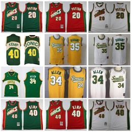 $enCountryForm.capitalKeyWord Canada - Seattle Basketball 20 Gary Payton Jersey Men Kevin 35 Durant 40 Shawn Kemp Ray 34 Allen Red Green Yellow White Sport Uniform