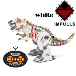 Wholesale remote control dinosaur kids toy Cool light music intelligent children RC robot mechanical war dragon boy toys FSWOB
