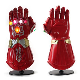 $enCountryForm.capitalKeyWord Australia - LED 4 Endgame Cosplay Thanos Iron Man Latex Gloves Arms Infinity Gauntlet Superhero Mask Action Figures Toy Prop