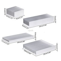 amd ram UK - Extruded Aluminum Heatsink For High Power LED IC Chip Cooler Radiator Heat Sink Drop Ship