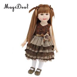 e0c9c8f462ae4f 18 zoll schöne baby puppe kleines mädchen puppen modell tragen party dress  für amerikanische unsere generation puppe diy cosplay spielzeug