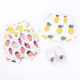 toddler training underwear UK - 2019 Baby Bread Pants Baby Underwear 100% Cotton Baby Diaper Pant Training Pants Toddler Girl Clothes Shorts