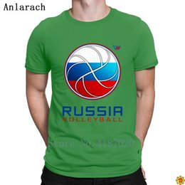 pop tees Canada - Russia Volleyballs For Light Colored T-Shirt Slogan Creature Pop Top Tee Natural Men's Tshirt Crew Neck Anlarach Graphic
