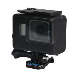 dive housing UK - Wholesale Underwater Waterproof Case for GoPro Hero 6 5 7 Black Diving Protective Cover Housing Mount for Go Pro 6 5 7 Accessory
