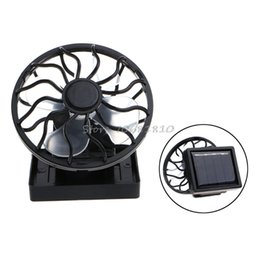 mini usb solar 2019 - Mini Portable Clip-On Solar Panel Powered Cooling Fan For Travel Camping Fishing cheap mini usb solar