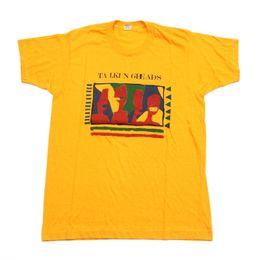 $enCountryForm.capitalKeyWord UK - VTG 80s Talking Heads Screen Stars USA Yellow Pop Wave Band T Shirt Men's Large Men Women Unisex Fashion tshirt Free Shipping