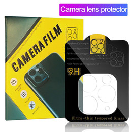 Chinese  Camera Film Tempered Glass for iPhone 11 Pro Max Camera Lens Screen Protector Full Cover Clear with Retail Box manufacturers