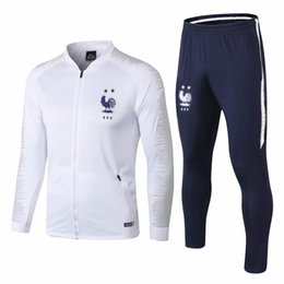 Gore Tex Xcr Jacket Australia - Top quality MBAPPE jacket tracksuits sets National team Two stars 18 19 GRIEZMANN tracksuits soccer jersey POGBA jackets training suits