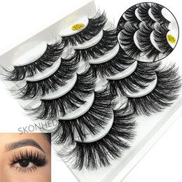 mink false eyelashes wholesale Australia - 5Pairs New Woman 3D Faux Mink Hair Soft False Eyelashes Fluffy Wispy Thick Lashes Handmade SoftBeauty Makeup Extension Tools