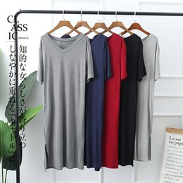 Plus size sexy night clothes online shopping - Women Nightgowns Summer Sleepwear Casual Night Dresses Plus size Short Sleeve slit dresses women Loose Nightdress Home Clothes