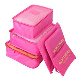 $enCountryForm.capitalKeyWord Australia - 6pcs set Waterproof Nylon Travel Storage Bag Organizer For Clothes Underwear Shoes Wardrobe Suitcase Pouch Portable