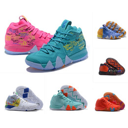545379a86d9 What the kyrie 5 mens basketball shoes for sale Irving 4 London Triple  Black Halloween south beach Colorful kids sneakers with original box
