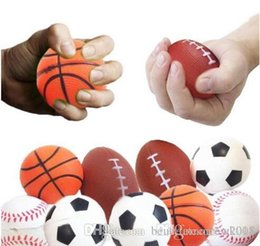 super squishy toy Canada - Super Beauty Soccer Football Squishy Toys Baseball Basketball Volleyball Slow Rising Jumbo Squeeze Phone Charms Cream Bread Stress Reliever