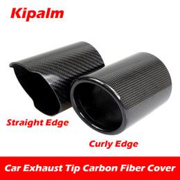 $enCountryForm.capitalKeyWord NZ - 1PCS Car Universal Exhaust Pipe Carbon Fiber Cover Exhaust Muffler Pipe Tip Carbon Fiber Case Exhaust Tip housing