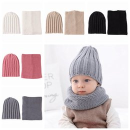 $enCountryForm.capitalKeyWord Australia - 2019 kids winter hat and scarf sets baby crochet hats caps + wool knitted scarves neckerchief children handmade beanies boys girls bonnets