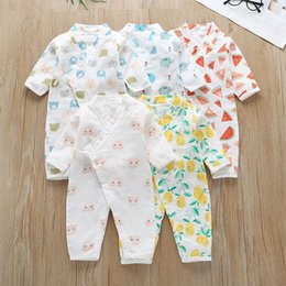 $enCountryForm.capitalKeyWord Australia - Newborn Baby Long Sleeves Bathrobe Jumpsuits Summer 2019 Kids Boutique Clothing Infant Toddler Unisex Cotton Bath Gown Baby Wear