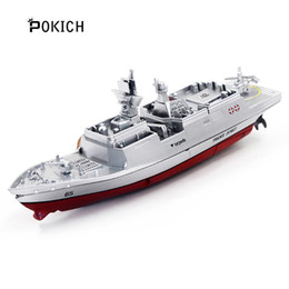 model warships UK - Pokich 2.4GHz 3CH Remote Control Boat Escort Frigate Carrier Ship Exquisite Model RC Warship Model