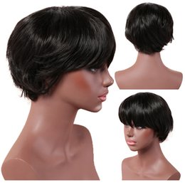 synthetic hair wholesalers NZ - 2019 Christmas gift brazilian hair wig for woman, fashion realistic High temperature synthetic silk short wigs synthetic braid hair WIG-025