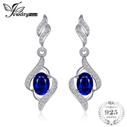 $enCountryForm.capitalKeyWord Australia - Jewelrypalace Delicate Created Sapphire Drop Earrings Dangle For Women Pure Solid 925 Sterling Silver Fashion Charm Jewelry SH190715