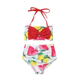 $enCountryForm.capitalKeyWord NZ - Cute Swimwear Girl 2019 Kids Bikini Set Floral Bowknot Swimsuit Toddler Swimwear Swimming Suit Girls Clothes Set Summer Swimsuit
