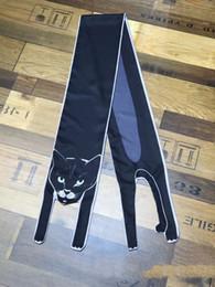 $enCountryForm.capitalKeyWord NZ - Animal Scarf Sexy Cat Hand Bag Scarves Imitated Silk Satin Scarf Polyester Loyal Dog Print Women Dress Summer Spring Long Scarves & Wraps