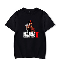 Simple Cosplay UK - Red Dead Redemption 2 Loose T-Shirts Simple Printed Cosplay Teen Game Fans Tee Shirt Youth Plus Size Loose Tops Man Woman Couple Top