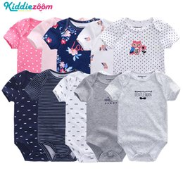 9902f7417 Baby Rompers Boys Playsuits Clothes Striped Playsuit Newborn Unisex Roupas  De Bebe Jumpsuit Infant Body Romper Clothing 0-12m J190525