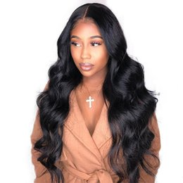 $enCountryForm.capitalKeyWord UK - Natural Color Full Lace Wigs Body Wave Human Hair Brazilian Peruvian Malaysian Indian Body Wave Lace Front Human Hair Wigs With Baby Hair
