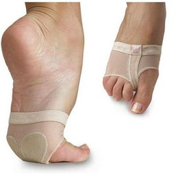 Cushion feet shipping online shopping - Hot Sale Ballet Dance Paws Cover Foot Forefoot Toe protector Cushion Pad Half Protection