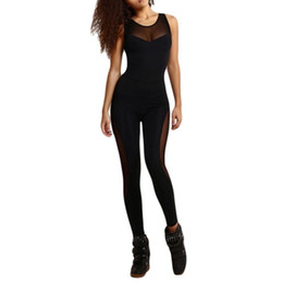 Black Sexy Ladies Clothes UK - Yoga Clothing Yoga Fitness Ladies Jumpsuit Solid Color Women Long Sleeve Thigh Hollow Open Back Fashion Sexy Tights #844287