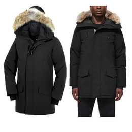 black hair decoration UK - Wholesale Star Same Style Pocket Decoration Mens Winter Coat With Fur Hair Collar Fashion Coat Thickening Mens Designer Winter Coats