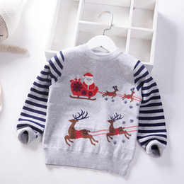baby boy winter jumpers Australia - 2019 Autumn Winter Boys Sweater Christmas Thicken children knitted Kids Pullover Clothes Jumper Santa Claus Baby Boy Sweaters