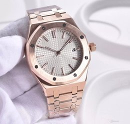 Roses butteRflies online shopping - hot sale Automatic Mens Watches Butterfly Button Octagonal Rose Glod Stainless Steel White Dial Transparent Back Mens Wristwatches