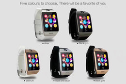 mini smart watch phone Australia - Q18 Bluetooth Smart Watch Mini Camera big screen smart wristband For Iphone 8 X iPhone Samsung Smart Phones GSM SIM Card Touch Screen DHL