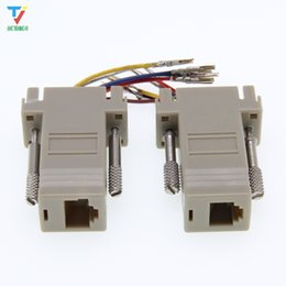 Pin Db9 NZ - 100pcs lot DB9 female to-RJ12 female adapter for computer connection of 9-pin serial port equipment